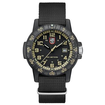 Luminox Black and Beige Leatherback SEA Turtle Giant Watch