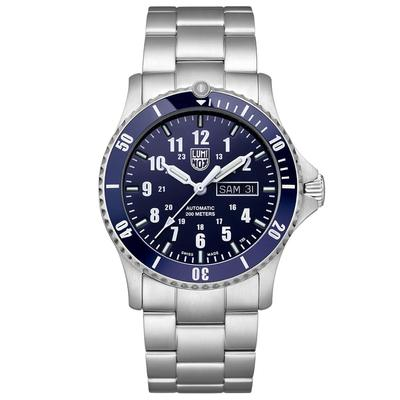 Luminox Blue and Silver Automatic Sport Timer Watch