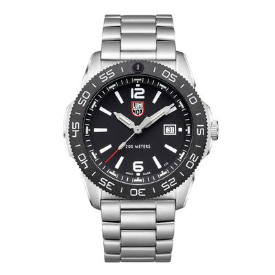 Luminox Black and Steel Pacific Diver Watch