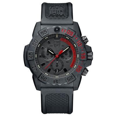 Luminox Black and Red Navy SEAL Chronograph Watch