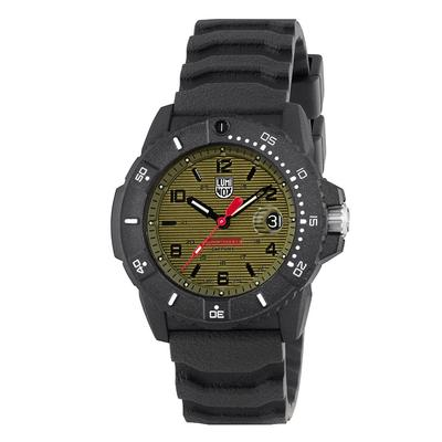 Luminox Black and Green Navy SEAL Date Magnifier Watch Set