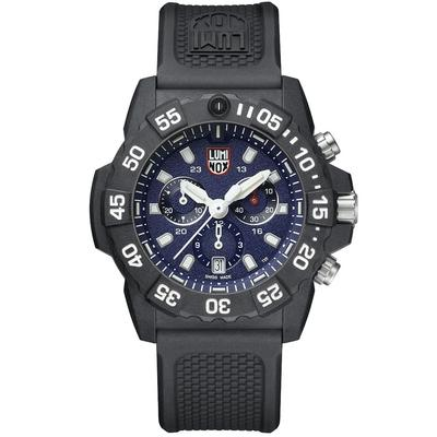 Luminox Black and Blue Navy SEAL Chronograph Watch