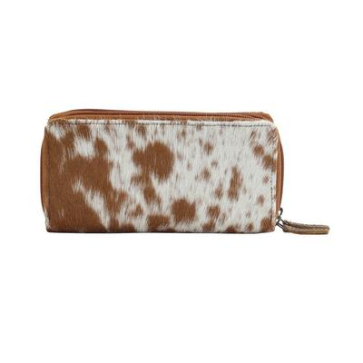 Myra Sand Dune Hair-On Hide Leather Wallet