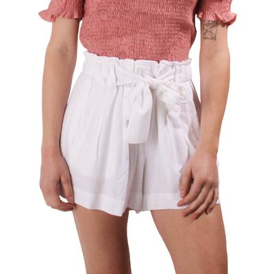 Another Love Women's Tina Front Tie Shorts WHT