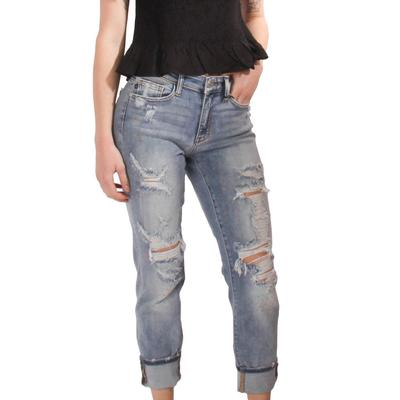 Judy Blue Women's Distressed Boyfriend Jeans