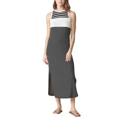 Women's Color Blocked Stripped Midi Dress