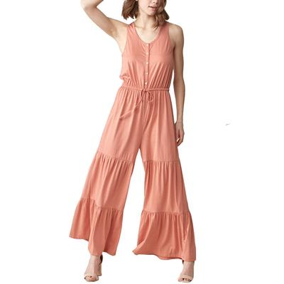 Women's Wide Leg Front Tie Jumpsuit