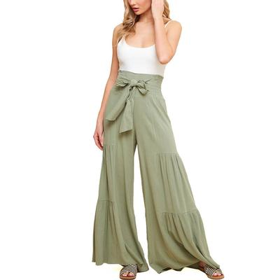 Women's Smock Waist Wide Tiered Pants