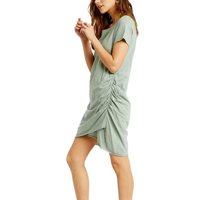 Women's Runched Tulip Mini Dress