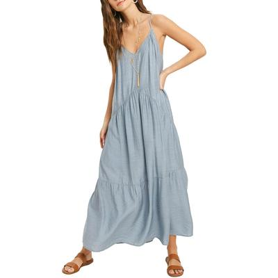 Women's Tiered Strappy Maxi Dress