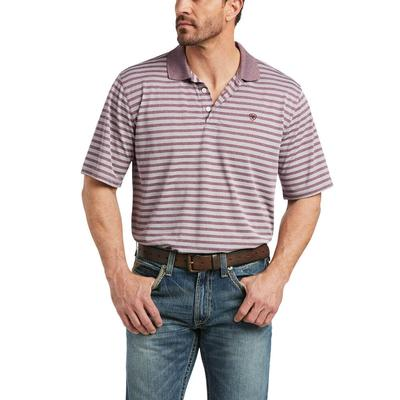 Ariat Men's Melange Stripe Polo