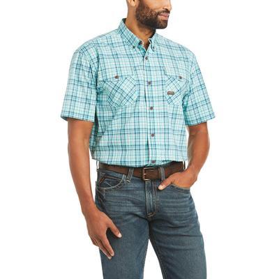 Ariat Men's Plaid Rebar Durastretch Work Shirt