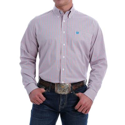 Cinch Men's Stretch Bright Plaid Western Button-Down