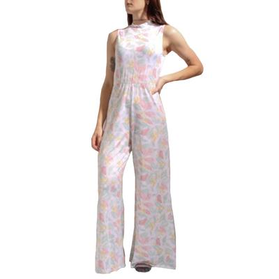 Peach Love Women's Leaf Print Jumpsuit