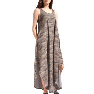 Women's Sleeveless Camo Maxi Dress