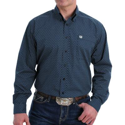 Cinch Men's Black Floral Western Button-Down