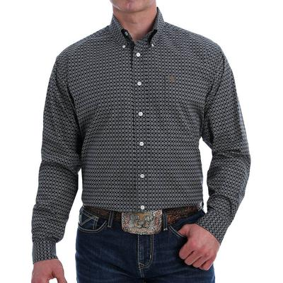Cinch Men's Geometric Print Western Button-Down