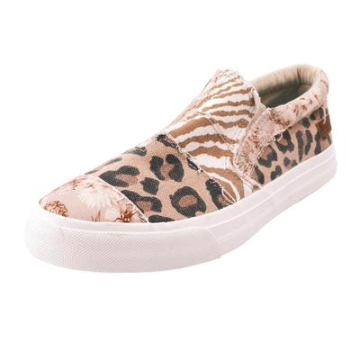 Blowfish Women's Grey Snakeprint Patch Sneakers