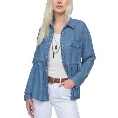 Ivy Jane Women's Snappy Denim Shirt Jacket