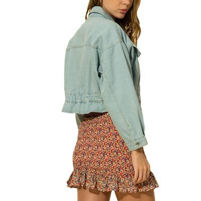 Hyfve Women's Elastic Waist Cropped Jacket