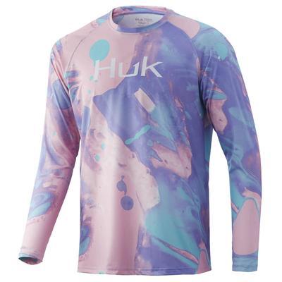 Huk Men's Tie-Dye Lava Pursuit Long Sleeve