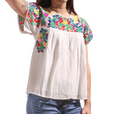 Buddy Love Women's Greek Embroidered Top