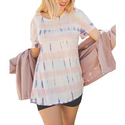 Kori Women's Pink Tie-Dye Top