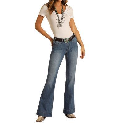 Rock&Roll Women's Herringbone Trouser Jeans