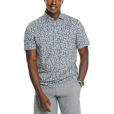 Southern Tide Men's Driver Brewers Print Performance Polo