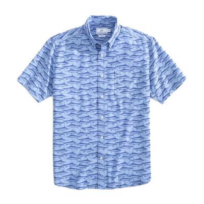 Southern Tide Men's Swordfish Short Sleeve Button-Down