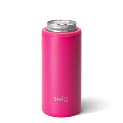 Swig 12oz Matte Hot Pink Skinny Can Cooler