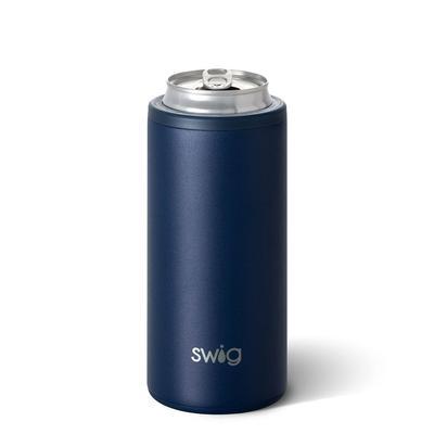 Swig 12oz Navy Skinny Can Cooler
