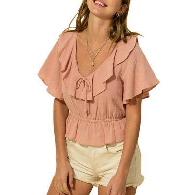 Hyfve Women's Flutter Sleeve Crop Top