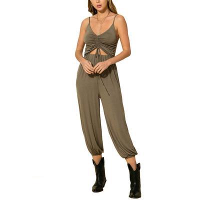 Hyfve Women's Cinched Front Cutout Jumpsuit