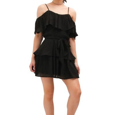 Hyfve Women's Black Ruffle Dress