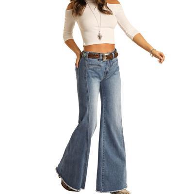Rock&Roll Women's Palazzo Flare Trouser Jeans
