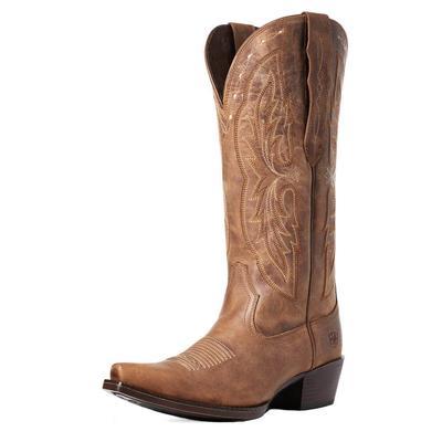 Ariat Women's Brown Heritage Elastic Calf Western Boots