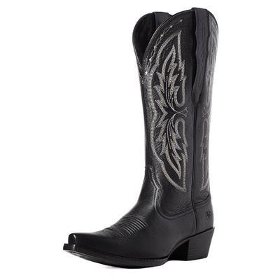 Ariat Women's Black Heritage Elastic Calf Western Boots