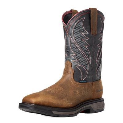 Ariat Men's Grey Workhog Xt Venttek Waterproof Work Boots