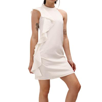 Jade Women's White Ruffle Dress