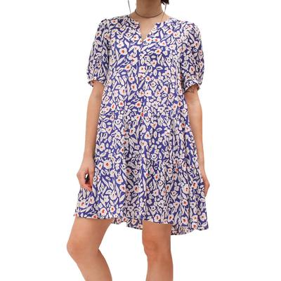 Joy Joy Women's Royal Floral Dress