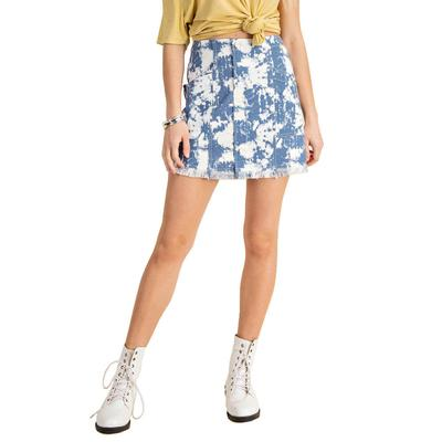 Kori Women's Button Front Tie Dye Mini Skirt