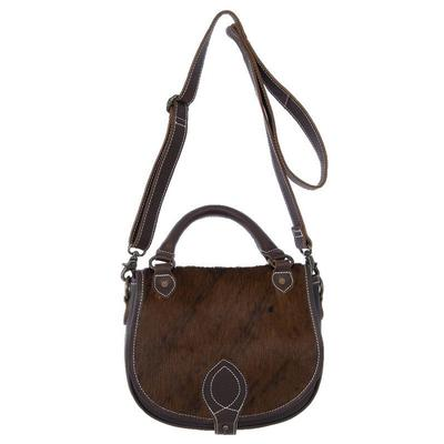 BRINDLE COWHIDE SADDLE BAG