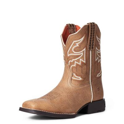 Ariat Youth Sorting Pen Brown Cottage Western Boots