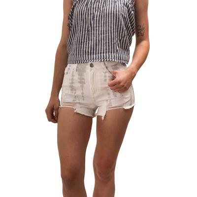 Peach Love Women's Tie-Dye Denim Shorts