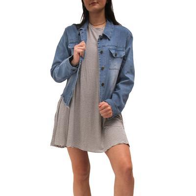 Elan Women's Denim Button-Down Jacket