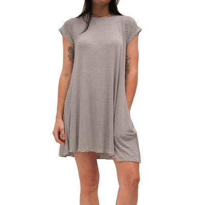 Elan Women's Stripped T-Shirt Dress