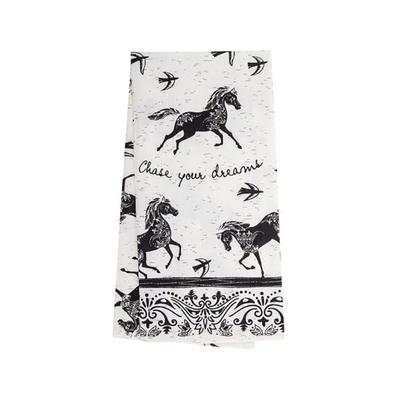 Black And White Horse Tea Towel