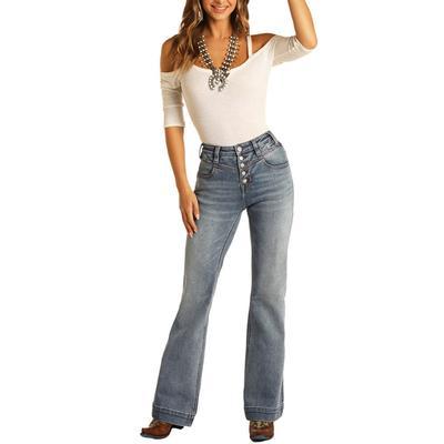 Rock & Roll Women's High Rise Trouser Jeans