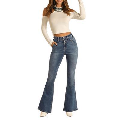 Rock&Roll Women's High Rise Flare Jeans